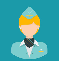Stewardess characte icon great of character use vector