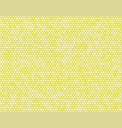 the yellow circle dot bubble mosaic tiles back vector image