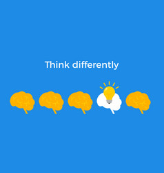 Think different infographic concept trend vector
