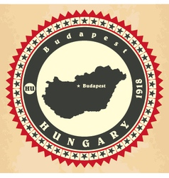 Vintage label-sticker cards of Hungary vector