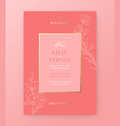 wedding invitation template abstract vector image