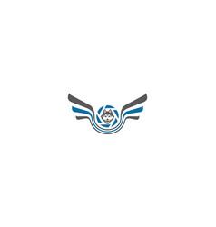 wolf camera logo icon vector image