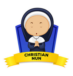 Wordcard with occupation christian vector