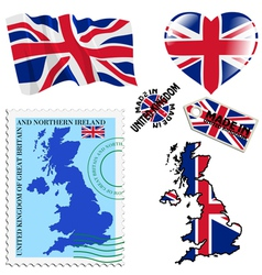 national colours of United Kingdom vector image