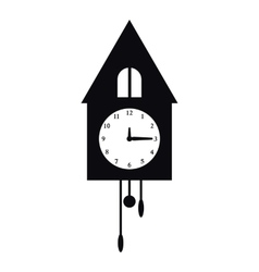 Old wall clock icon simple style vector image