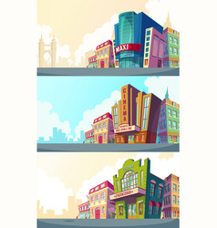 set cartoon of an urban vector image vector image
