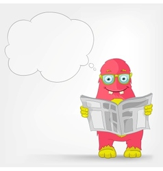 Funny Monster News vector image vector image