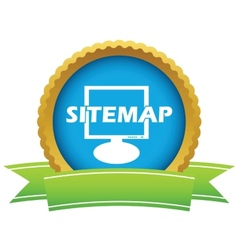 Gold sitemap logo vector image