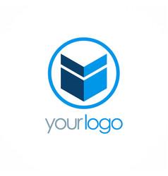 shape business company logo vector image