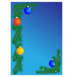 Christmas border on blue background vector image