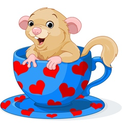 Cute dormouse vector image vector image