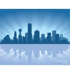 dallas texas skyline vector image vector image
