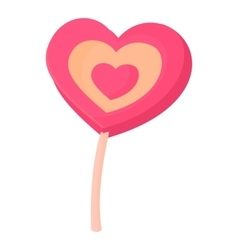 Lollipop heart icon cartoon style vector image vector image