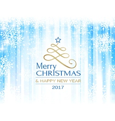 Merry Christmas blue white snowflake vector image vector image
