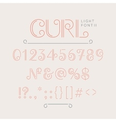 Numbers and extra characters for a font vector image vector image