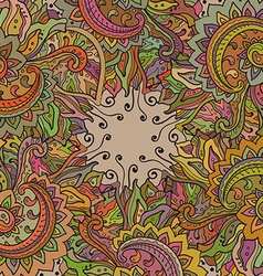 pattern of the indian floral ornament vector image vector image
