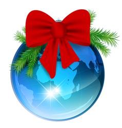 world new year ball vector image vector image