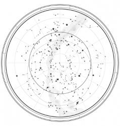 astronomical celestial map vector image