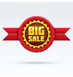 Red Sale Badge With Shadow on White Background vector image