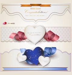 Wedding Congratulations Card vector image vector image