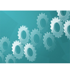 3d cog background vector