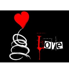 A grungy love card vector