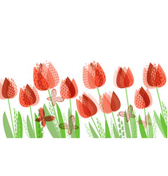 Abstract bright spring floral pattern vector