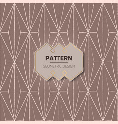 Abstract geometric pattern in etnic style vector