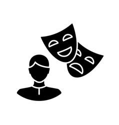 Actor black glyph icon vector