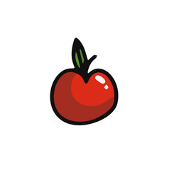 apple cartoon icon vector image