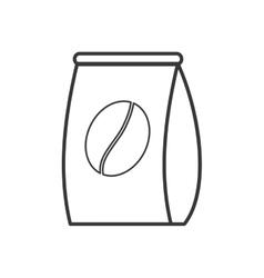 Bag bean coffee shop icon graphic vector
