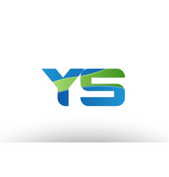 blue green ys y s alphabet letter logo vector image vector image