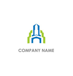 building architect company logo vector image