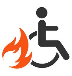burn patient flat icon vector image