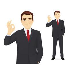 business man gesturing ok vector image