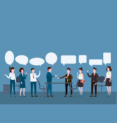 business people meeting teamwork or brainstorming vector image