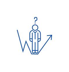 business question businessman growth line line vector image