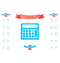 calculator symbol icon vector image