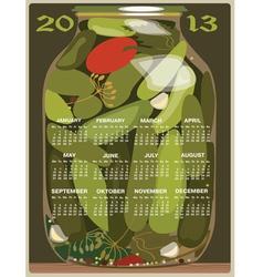 calendar 2013 cucumber vector image