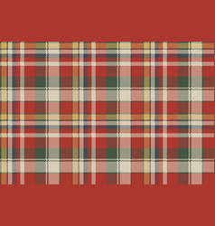 canvas pixel plaid seamless fabric texture vector image
