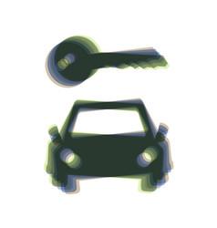Car key simplistic sign colorful icon vector