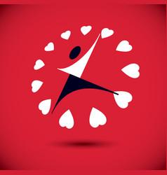 charity and volunteer conceptual logo wellness vector image