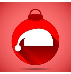 Christmas icon with the silhouette of the cap vector
