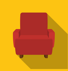 cinema armchair icon in flat style isolated on vector image
