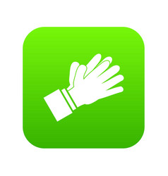 clapping applauding hands icon digital green vector image