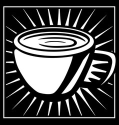 coffee graphic vector image