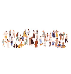 Crowd multiethnic male and female person vector