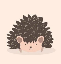 cute hedgehog cartoon character vector image