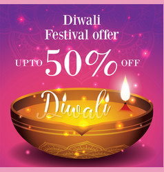 diwali festival sale banner and poster background vector image
