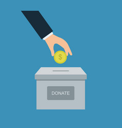Donate money vector